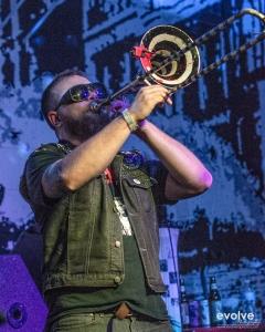 Brunt of It's crazy trombone.