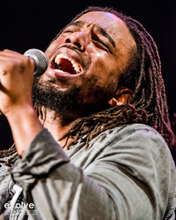 Dwayne Danglin, lead vocals, the Wailers, at Bearsville Theater in Woodstock, NY